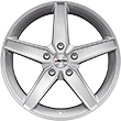 "Carex* Alloy Wheel 17"" Autec Delano, 5-spoke-design, Hyper Silver"