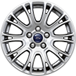"Alloy Wheel 16"" 10 x 2-spoke design, silver"