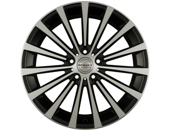 "Carex* Alloy Wheel 19"" Borbet BLX, 15 Speichen, black Polished"