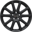 "Carex* Alloy Wheel 16"" Autec Skandic, 10-spoke-design, Black Matt"