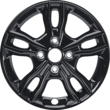"Alloy Wheel 15"" 5 x 2-spoke design, black"