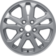 "Alloy Wheel 40,64 cm (16"") 5 x 2-spoke design, Sparkle Silver"